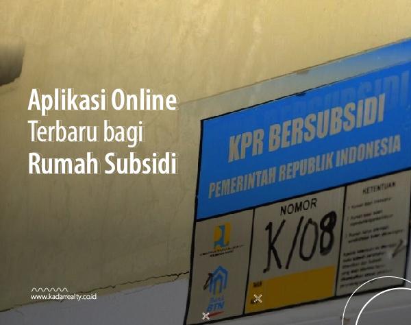 aplikasi online bagi rumah subsidi