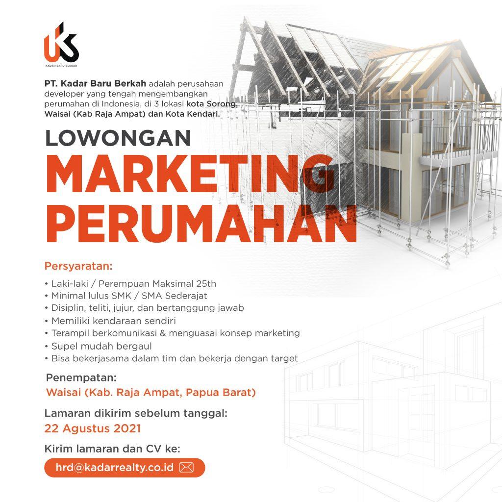 Lowongan Pekerjaan Marketing Perumahan